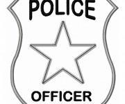 Coloriage et dessins gratuit Insigne de police à imprimer