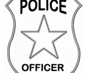Coloriage Insigne de police