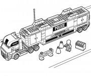 Coloriage et dessins gratuit La camion de police de Lego City à imprimer