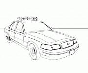 Coloriage Le modèle de voiture de police standard