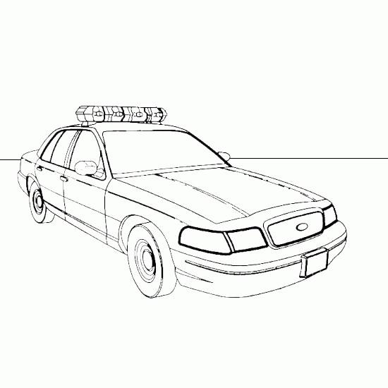Coloriage et dessins gratuits Le modèle de voiture de police standard à imprimer