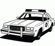 Coloriage Modèle classique de voiture de police