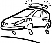 Coloriage Petite voiture de police