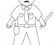 Coloriage police 4 dessin gratuit imprimer - Coloriage gendarme ...