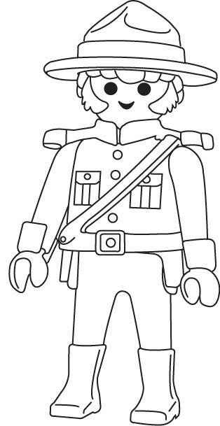 Coloriage Police canadienne dessin gratuit à imprimer