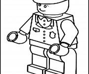 Coloriage Policier Lego