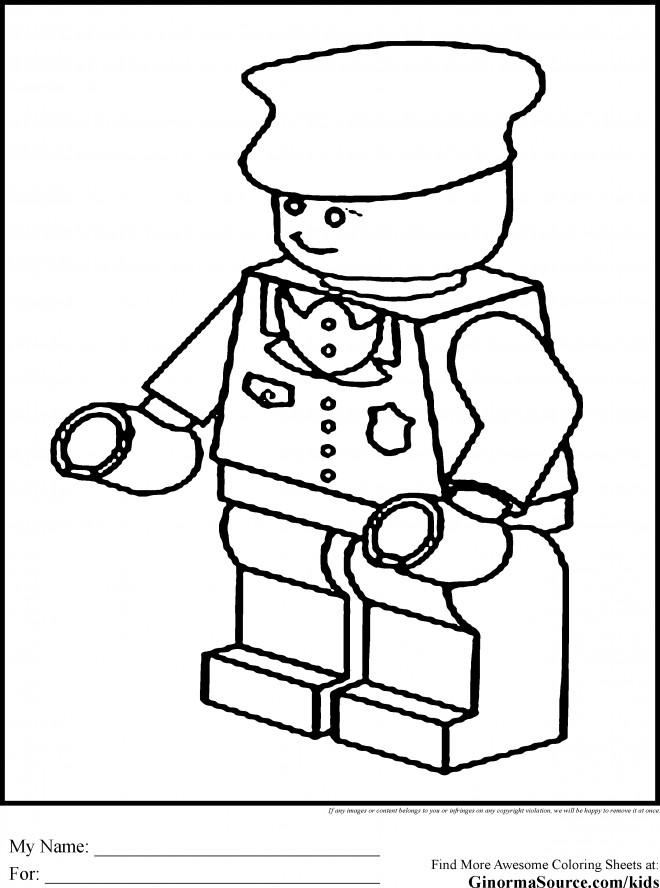 Coloriage et dessins gratuits Policier Lego couleur à imprimer