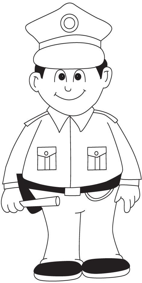 Coloriage et dessins gratuits Un jeune policier à imprimer
