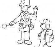 Coloriage et dessins gratuit Un policier gère la circulation à imprimer