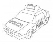 Coloriage et dessins gratuit Une voiture de police à imprimer