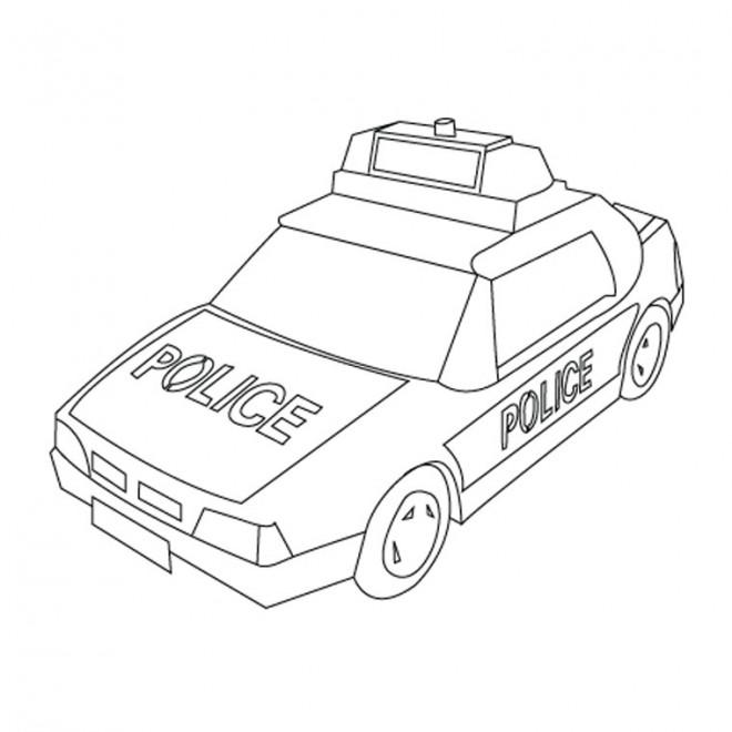 Coloriage une voiture de police dessin gratuit imprimer - Dessin voiture de police ...