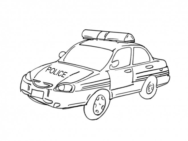 coloriage voiture de police dessin gratuit imprimer. Black Bedroom Furniture Sets. Home Design Ideas