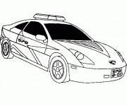 Coloriage Voiture de police américaine dessin gratuit à ...