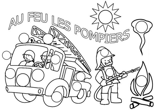 Coloriage et dessins gratuits Au feu les Pompiers à imprimer