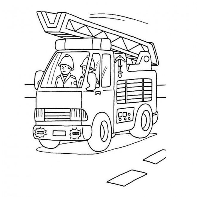 Coloriage Camion Pompier Facile Dessin Gratuit A Imprimer