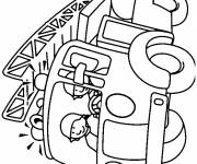 Coloriage et dessins gratuit camion pompiers maternelle à imprimer