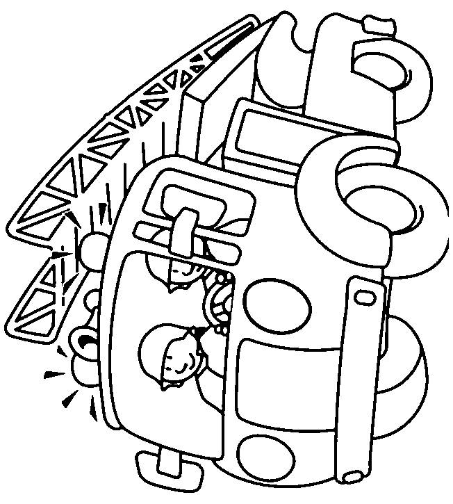 Coloriage et dessins gratuits camion pompiers maternelle à imprimer