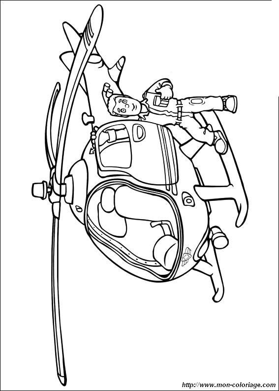 Coloriage Hélicoptère De Pompier Dessin Gratuit à Imprimer