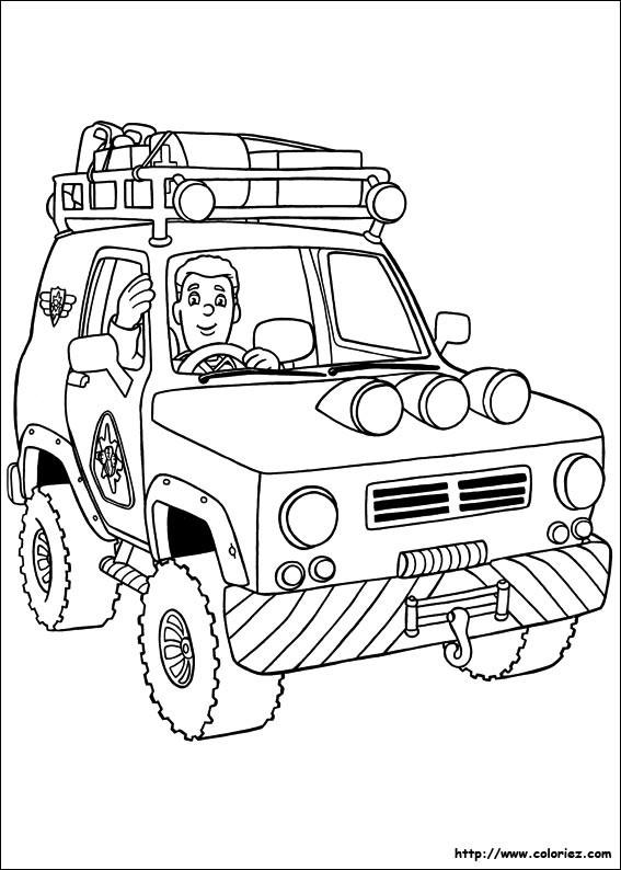 Coloriage la voiture de pompier dessin gratuit imprimer - Dessin de pompiers a imprimer ...