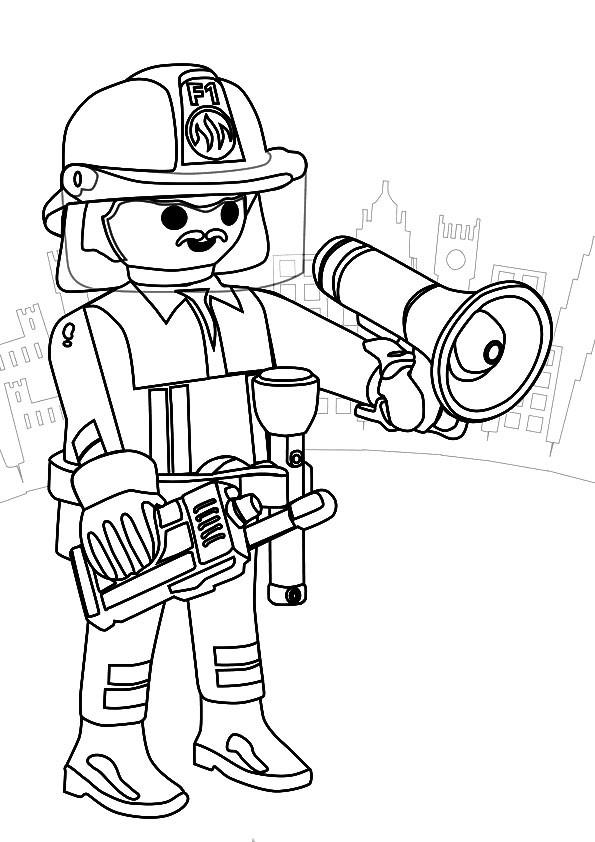 Coloriage et dessins gratuits Lego Pompier à imprimer
