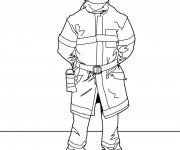 Coloriage dessin  Pompier 2
