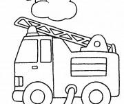 Coloriage dessin  Pompier 3