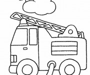 Coloriage et dessins gratuit Pompier Camion à imprimer