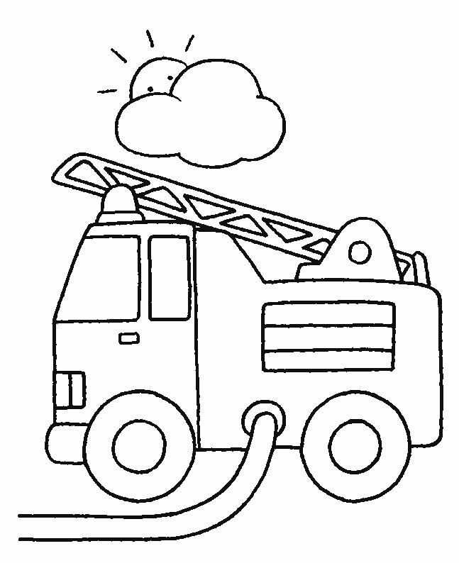 Coloriage pompier camion dessin gratuit imprimer - Coloriages pompiers ...