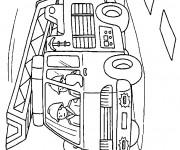 Coloriage et dessins gratuit Pompier en couleur à imprimer