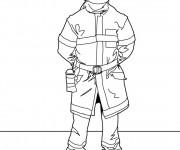Coloriage et dessins gratuit Pompier maternelle à imprimer