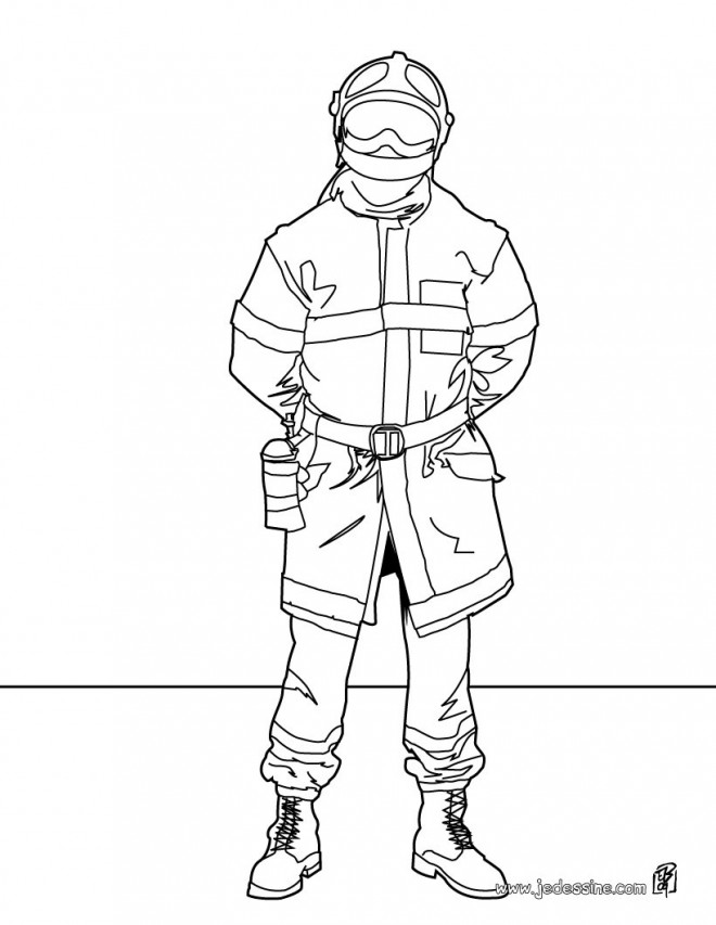 Coloriage pompier maternelle dessin gratuit imprimer - Coloriages pompiers ...
