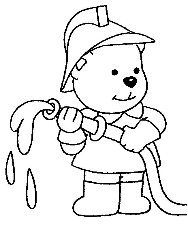 Coloriage et dessins gratuits Pompier Ours à imprimer