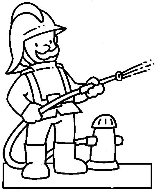 Coloriage et dessins gratuits Pompier pour enfant à imprimer