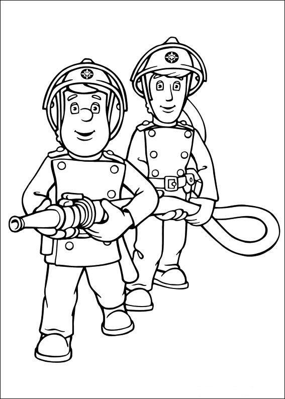 Coloriage pompier sam et le tuyau d 39 incendie dessin gratuit imprimer - Dessin de pompiers a imprimer ...