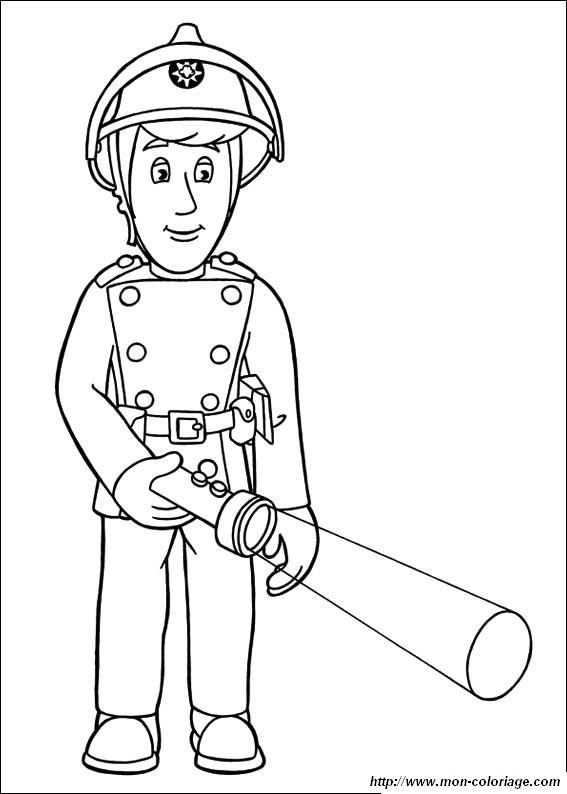 Coloriage et dessins gratuits Pompier Sam et sa Torche à imprimer