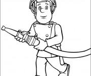 Coloriage et dessins gratuit Pompier Sam Le Héro à imprimer