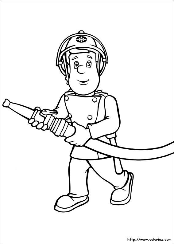 Coloriage et dessins gratuits Pompier Sam Le Héro à imprimer