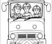 Coloriage et dessins gratuit Pompier Sam sur une urgence à imprimer
