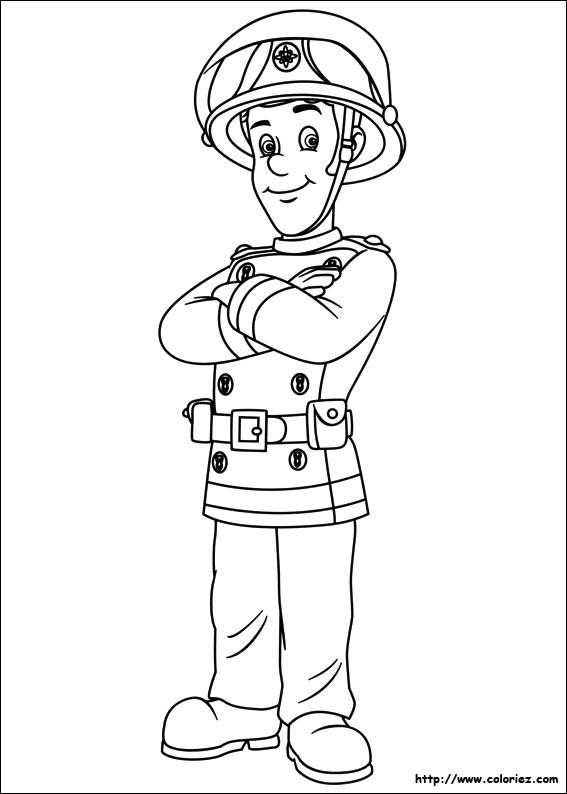 Coloriage et dessins gratuits Portrait de Sam Le Pompier à imprimer