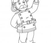 Coloriage dessin  Sam le Pompier 13