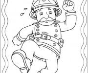 Coloriage dessin  Sam le Pompier 16