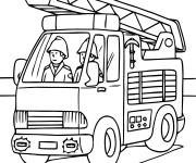 Coloriage pompier gratuit imprimer - Sam le pompier gratuit ...