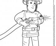 Coloriage et dessins gratuit Sam Le Pompier à imprimer
