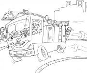 Coloriage dessin  Sam le Pompier 24