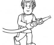 Coloriage dessin  Sam le Pompier 3