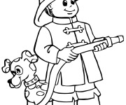 Coloriage dessin  Sam le Pompier 34