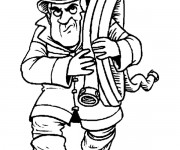 Coloriage dessin  Sam le Pompier 43