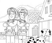 Coloriage dessin  Sam le Pompier 7