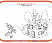 Coloriage et dessins gratuit Thème Pompier à imprimer