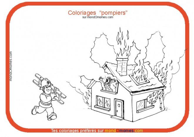 Coloriage et dessins gratuits Thème Pompier à imprimer